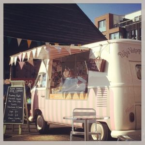 pollys vintage ice cream Van Wedding Hire