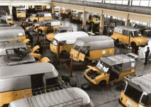 Swiss Postal vans