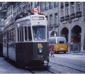 Swiss Post Van on the Streets of Bern